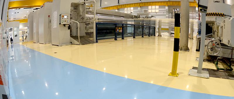 Thi công sơn sàn tại nhà máy Samsung Việt Nam